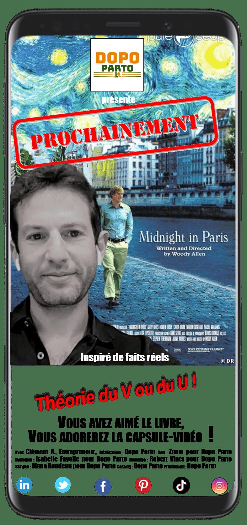 """Clément A., Entrepreneur, Paris 1er, France, Portrait DopoParto Summer2020 """"Dopo Parto"""" (Affiche)"""
