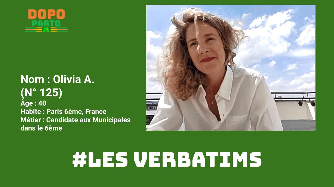 """Olivia Andrez Vignette Portrait DopoParto Les Verbatims """"Dopo Parto"""""""